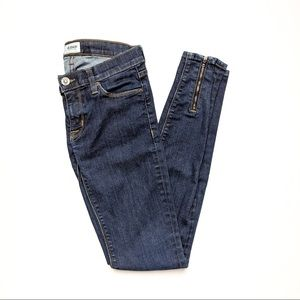 Hudson skinny jeans with zippers size 25